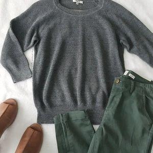 Madewell Gray Crewneck Sweater